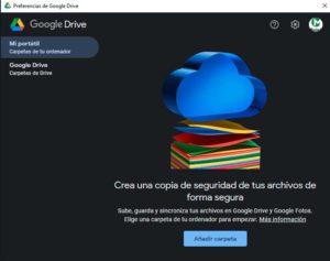 Sincronizar carpeta con Google Drive - Paso 2