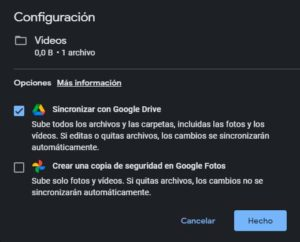 Sincronizar carpeta con Google Drive - Paso 4