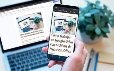 Cómo trabajar en Google Drive con archivos de Microsoft Office